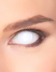 oeil blancs